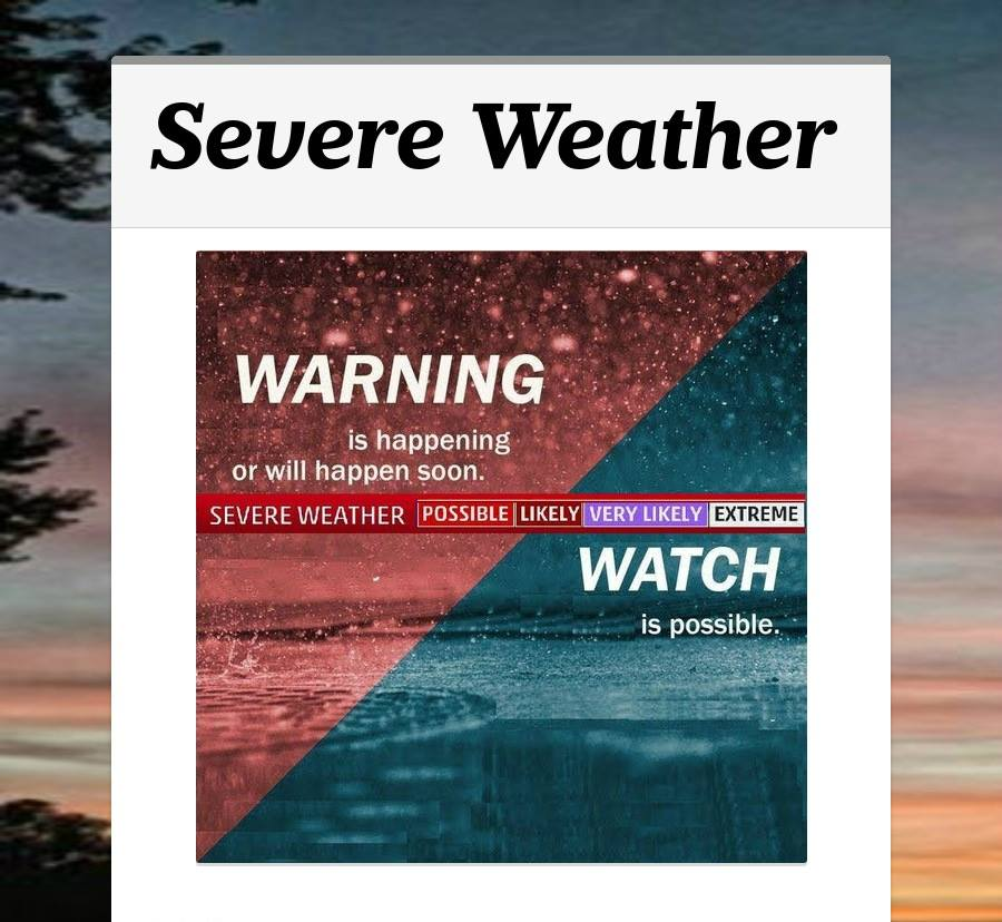 Topic Severe Weather